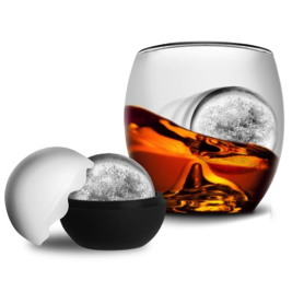 Libations On The Rock Whiskey Glass and Ice Ball